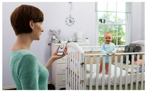 Waves of a babyphone and health of the baby