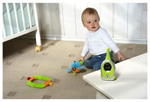Reach between a baby monitor and baby