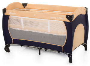 Lit Hauck Sleep'n Play Center en noir et beige